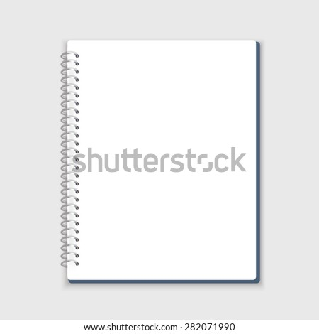 Vector spiral notepad. - stock vector