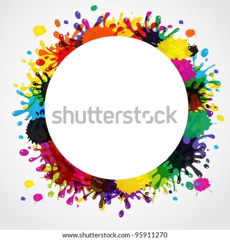 Vector splash abstract background - stock vector