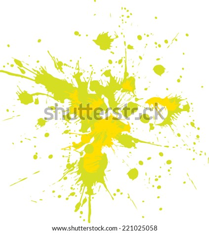 Vector splashes of yellow