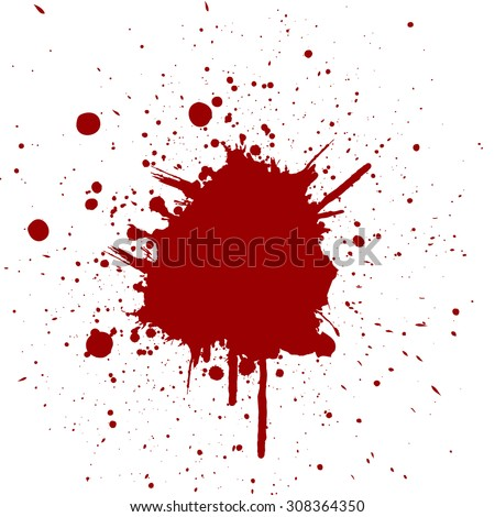 Vector splatter red color background.illustration vector - stock vector