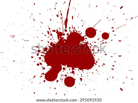 Vector splatter red color isolate background - stock vector