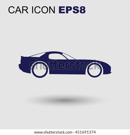 Vector sport car icon - stock vector