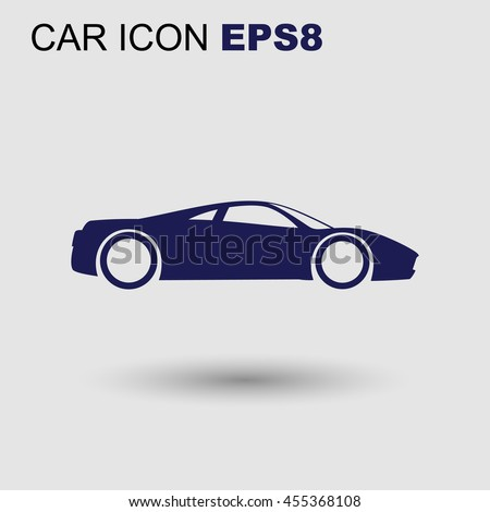 vector sport car icon