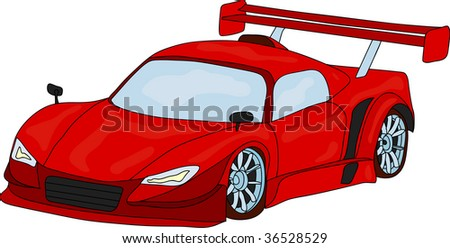 vector - sport car isolated on background - stock vector