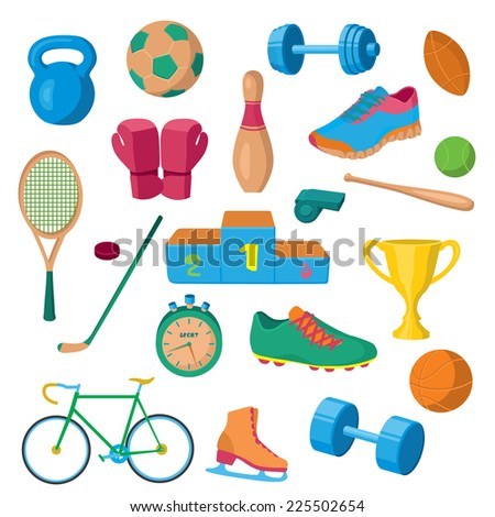 Vector sport equipment - stock vector