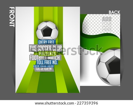 Vector Sport Tournament Front Back Flyer Stock Vector 227359396