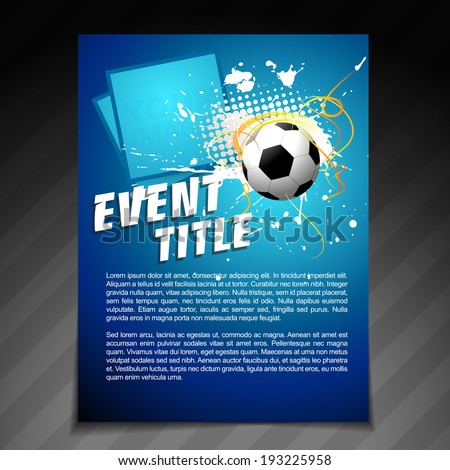 vector sports brochure flyer template design - stock vector