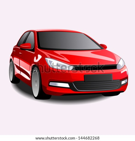 Vector sports car - stock vector