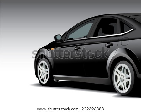 vector sports car side - stock vector