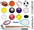 Vector Sports Set - stock vector