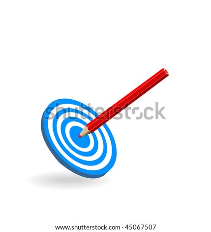 Vector sports target on a white background