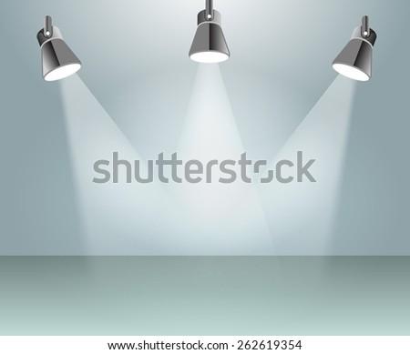 Vector spot light illustration - stock vector