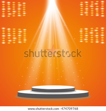 Vector spotlight. Scene. Light effects