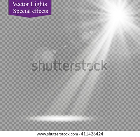 vector spotlight.star.glare - stock vector