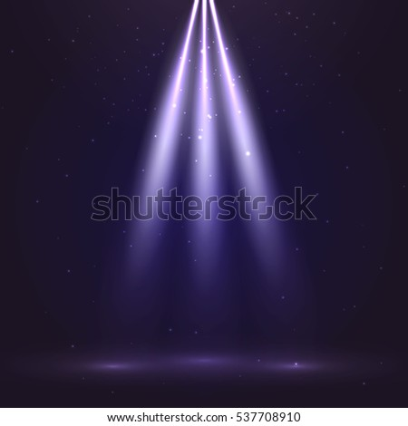 Vector Spotlights. Scene. Light Effects