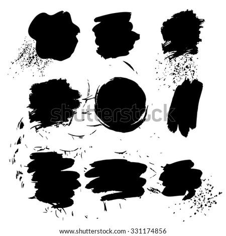 Vector Spots Spray Black White Artistic Stock Vector 331174856 ...