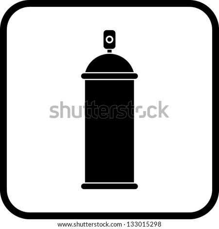 Vector Spray Can. - stock vector