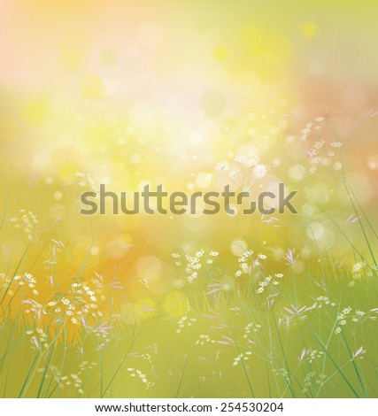 Vector spring  nature background. - stock vector