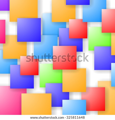 Vector Square Blank Background. Set of Colorful Squares. Squares Pattern
