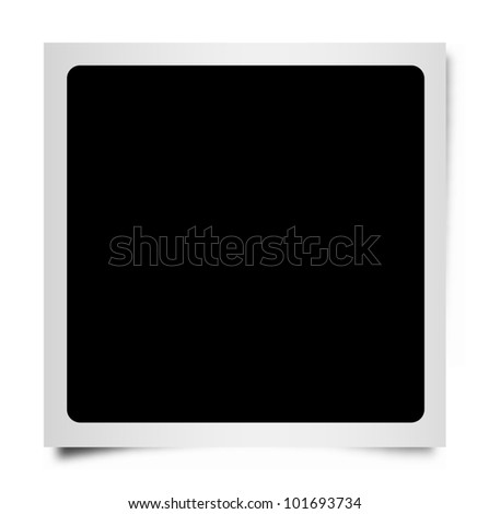 Vector square instant photo frame with shadow and rounded corners. - stock vector