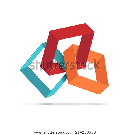 Vector square sign - stock vector