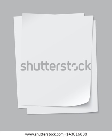 vector stack of papers, grouped and layered, easy to edit and move each one in different directions - stock vector