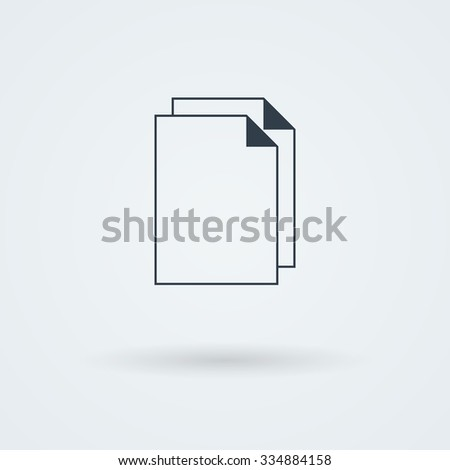 Vector stack of papers. Logo. Pictogram. Button. - stock vector