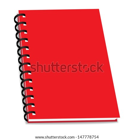 vector stack of ring binder book or notebook isolated - stock vector