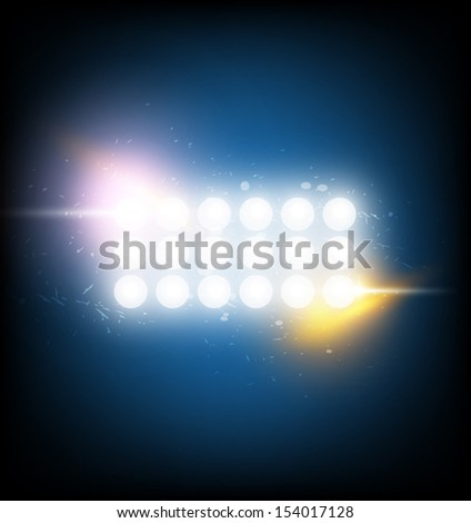 vector stadium spotlight, electric background - stock vector