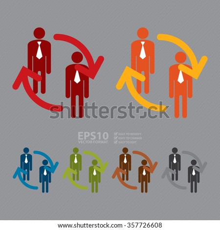 Vector : Staff Turnover Infographics Flat Icon, Sign - stock vector