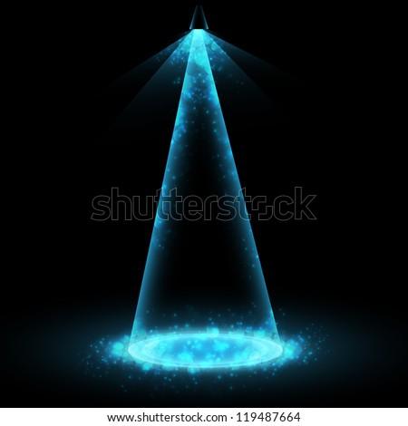 Vector stage spotlight - stock vector
