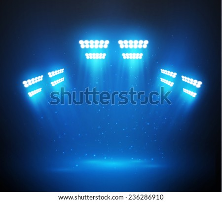 Vector stage spotlight background. Eps10. - stock vector