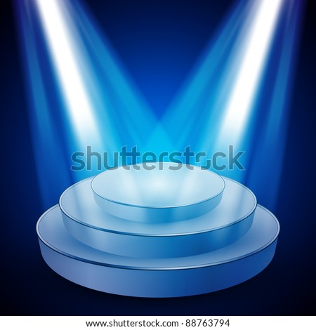 Vector Stage with Lights - EPS10 Design - stock vector