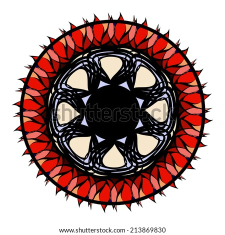 Vector stained-glass celtic pattern - stock vector