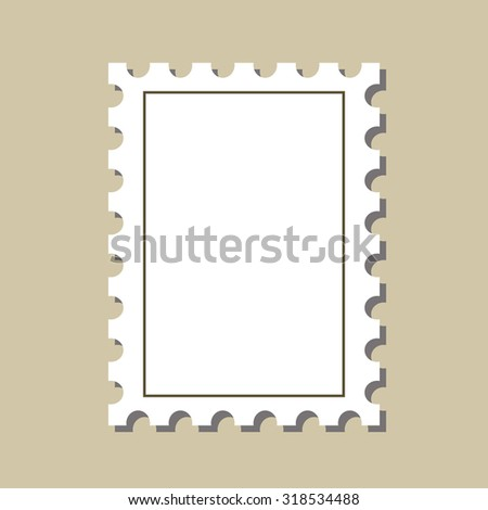 vector  stamp  postmark template. Isolated on white background - stock vector