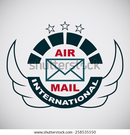 Vector stamp with the image of the logo Air mail - stock vector
