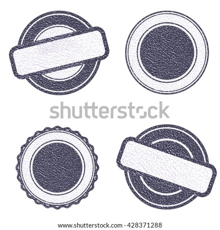 Vector Stamp without text. . Grunge Rubber Texture .