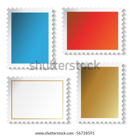 Vector stamps stickers - stock vector