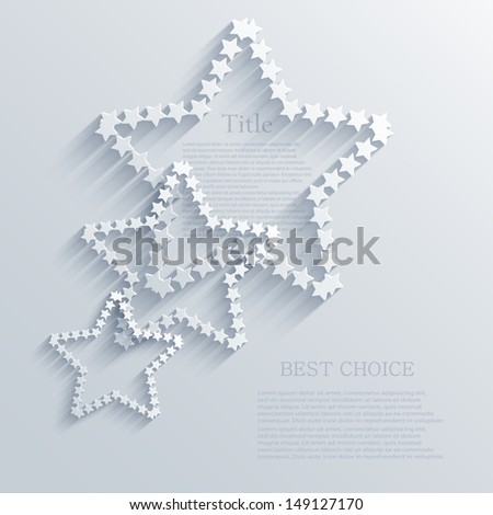 Vector star background design. Eps10 - stock vector