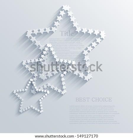 Vector star background design. Eps10 - stock vector