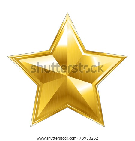 vector star icon on white background - stock vector