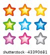 Vector star icons - stock vector