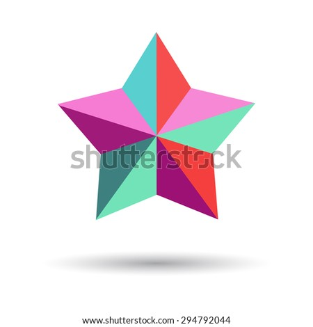 Vector star with shadow - stock vector