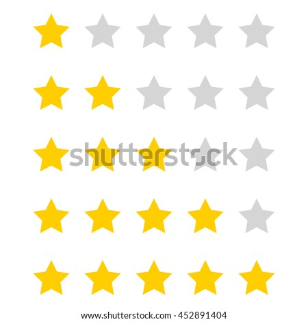 Vector stars rating.