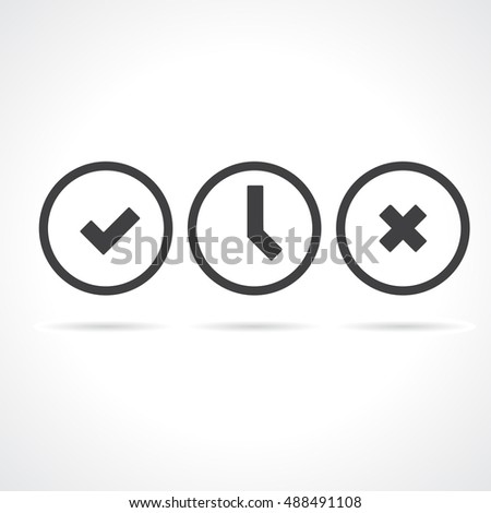 Vector Status Icon Set in Outline
