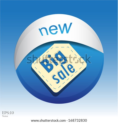 Vector : Sticker or Label For Marketing Campaign, Buy  - stock vector