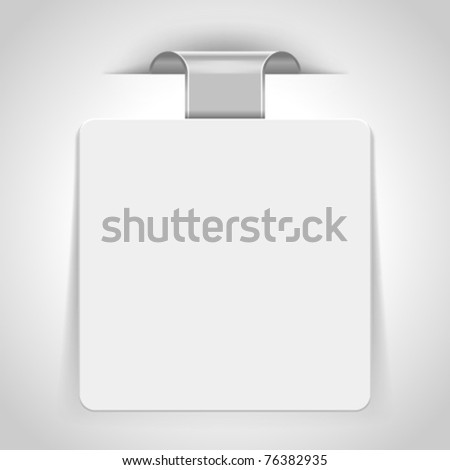 Vector sticker. Transparent shadow easy replace background and edit colors. - stock vector