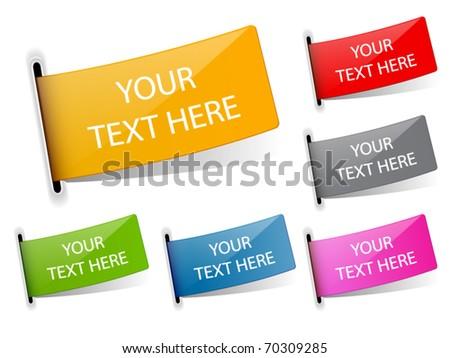Vector stickers - stock vector
