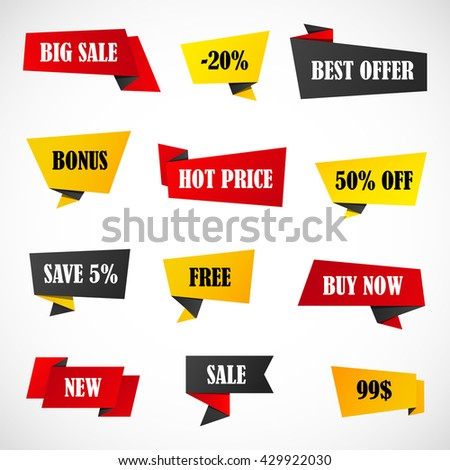 Vector Stickers Price Tag Banner Label Stock Vector 456907333