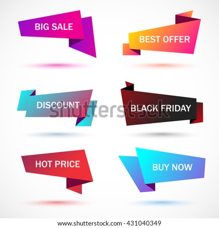 Vector Stickers Price Tag Banner Label Stock Vector 431040349 ...